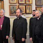 епископ г.Миккели Сеппо Хяккинен, пастор Тимо Росквист, пастор Ари Оелл (ЕЛЦФ) (слева направо)